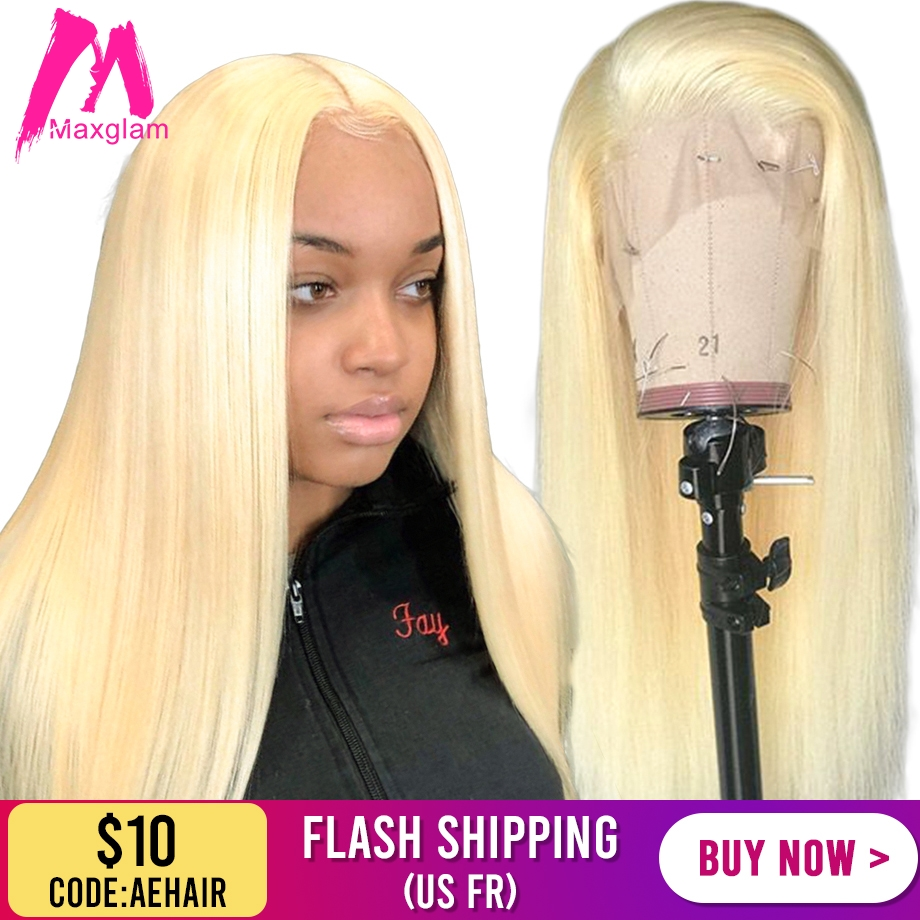 613 Blonde Lace Front Human Hair Wigs Short Bob Frontal Wig Straight Brazilian Natural Remy Hd Full Preplucked For Black Women
