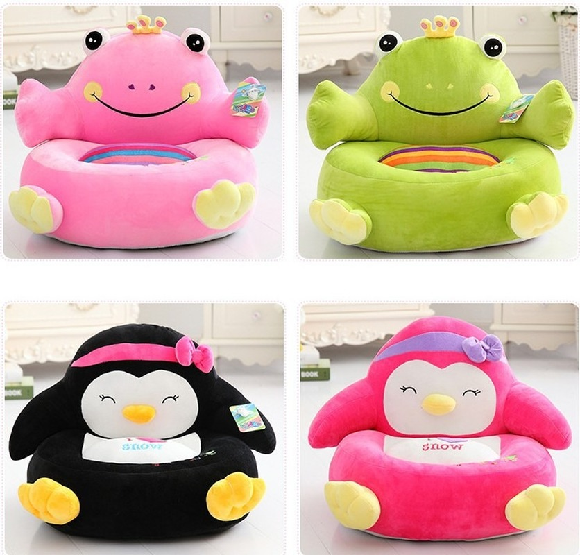 Explosive Children's Cartoon Lazy Sofa Cute Elephant Frog Penguin Plush Seat Comfortable Baby Seat Sofa Plush Toy