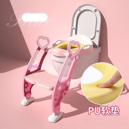 Kids Potty Training Adjustable Ladder Light Weight Guide Baby Cartoon Non-slip Design Child Toilet Seat