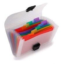 13 Pockets Accordion Receipt Organizer - A6 Mini Plastic Expanding Wallet for Bills Coupons Card Mini Expandable Portable Folder