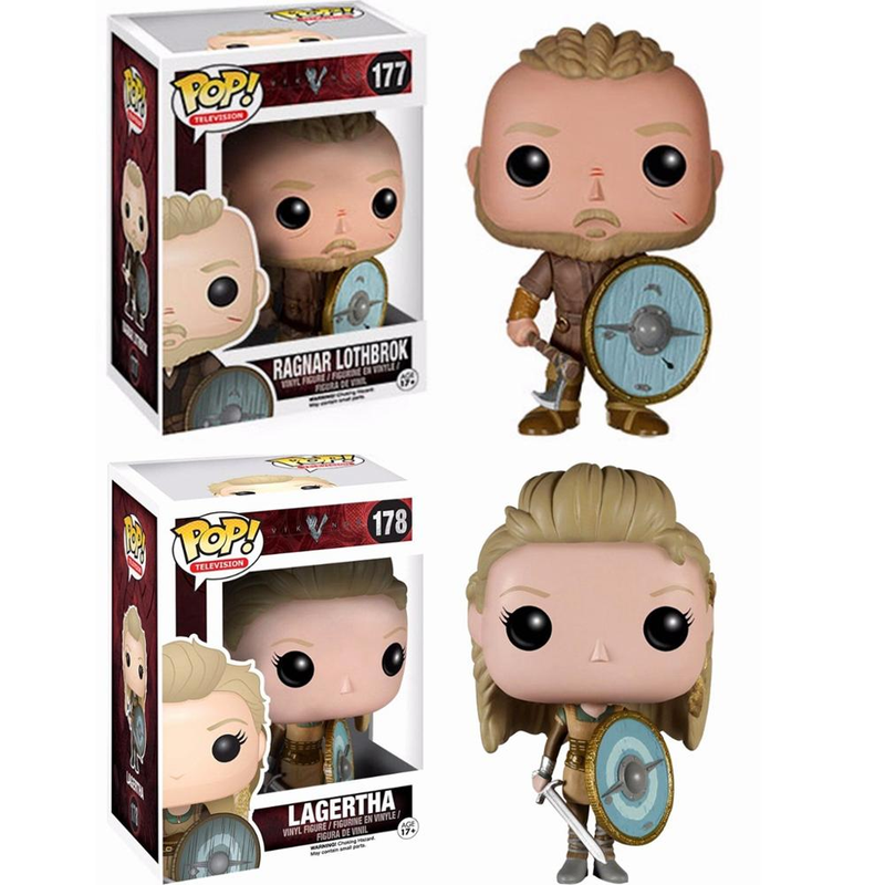 Funko Pop Vikings LAGERTHA RAGNAR LOTHBROK Figure Vinyl Model Collection Action Figures Toys For Kids Christmas Gifts