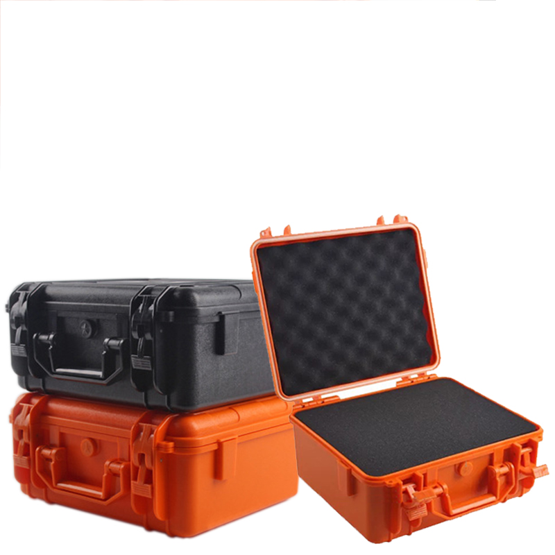 Impact Resistant Safety Case Suitcase Toolbox File Box Equipment Camera Case Tool Case With Pre-cut Foam Lining 28x23x15.5cm