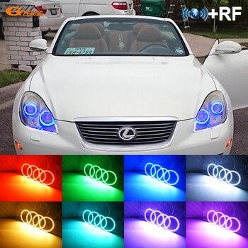 For lexus SC 430 SC430 2005 2006 2007 2008 2009 2010 RF remote Bluetooth APP Multi-Color Ultra bright RGB LED Angel Eyes kit