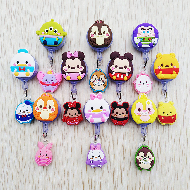 1 Pcs/lot New Creative Cartoon Animal Retractable Badge Reel ID Name Tag Card Nurse Badge Holder 2020 Lovely Student Reels