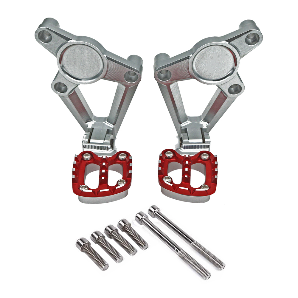 MKLIGHTECH For HONDA X-ADV XADV 300 750 1000 2017-2019 Motorcycle Folding Pedals Rear Footrests Passenger Foot Pegs