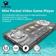 Ультрамаленькая прозрачная игровая мини-консоль POWKIDDY TRIMUI с металлическим корпусом поддерживает добавление ПЗУ детские дешевые подарки