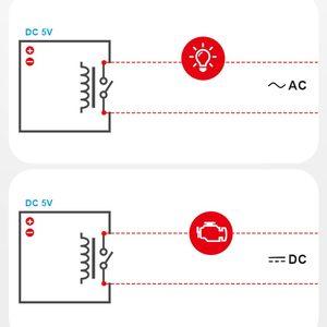 Image 5 - 5 قطعة SONOFF RE5V1C Wifi لتقوم بها بنفسك التبديل 5 فولت تيار مستمر وحدة التتابع الذكية اللاسلكية مفاتيح inting/الذاتي قفل وسائط APP/صوت بعيد تشغيل/إيقاف