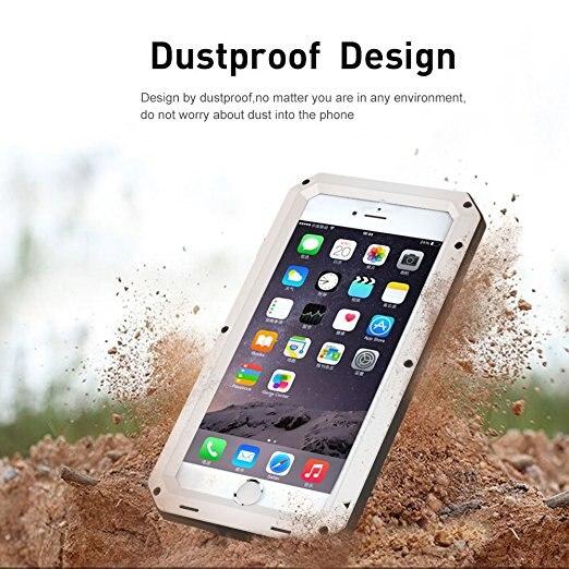 Luxe Doom Armor Vuil Shock Waterdichte Metal Aluminium Telefoon Tassen Case Voor Iphone 7 11 6 6S 8Plus xs Max Xr Cover + Gehard Glas 3