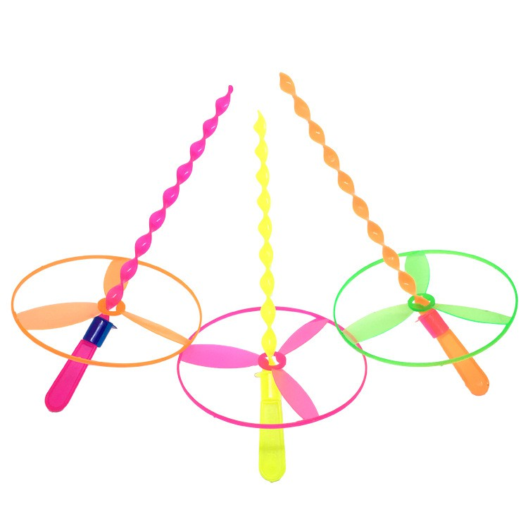 1 PC/S Kids Toys Flying Saucer Disc Pull String Colorful Flash Funny Play  Flying Gyro Flying Saucer Hand Push
