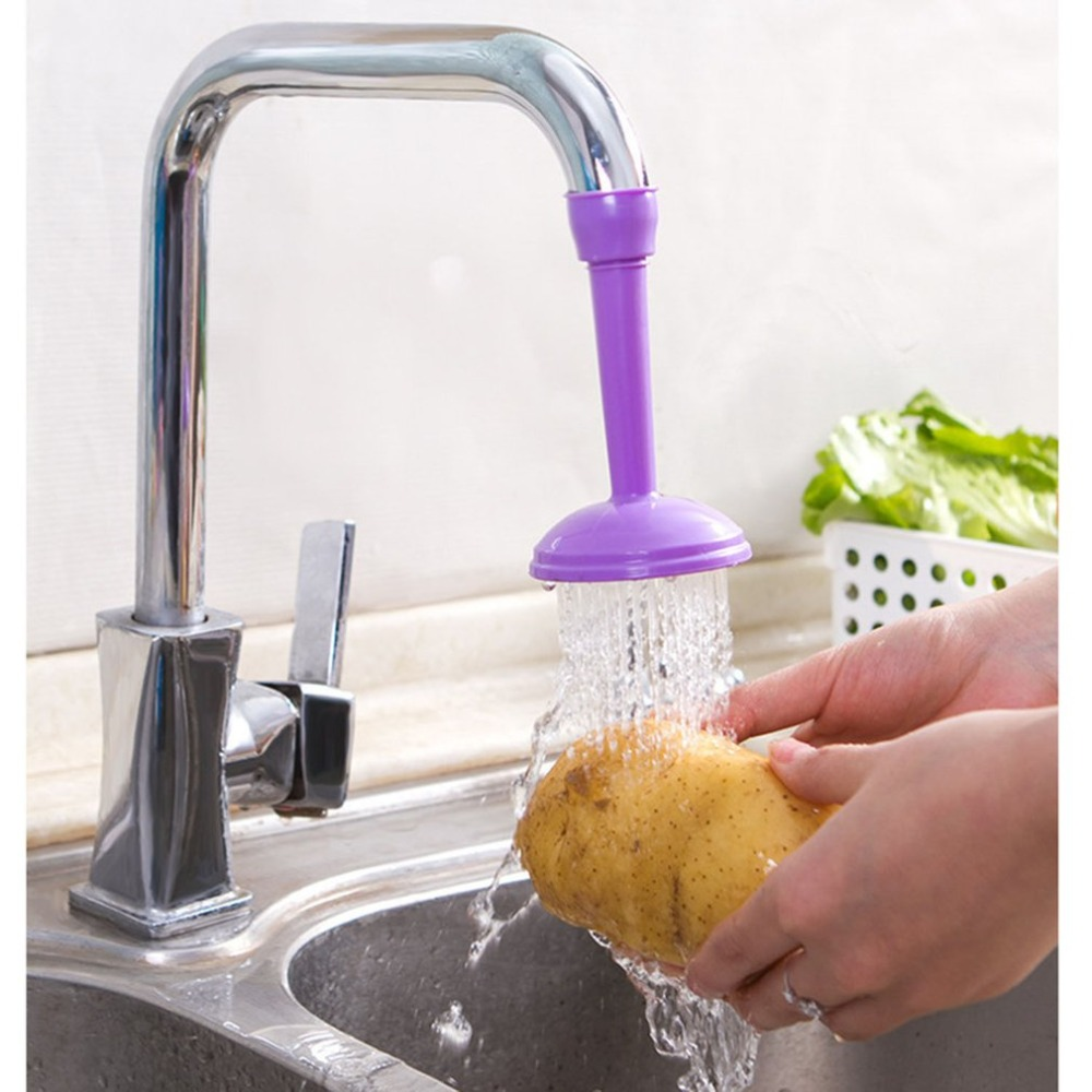 Non-toxic Colorful Long Faucet Splash Proof Water Saver Household Good Practical And Durable Wear Resistance Household Item