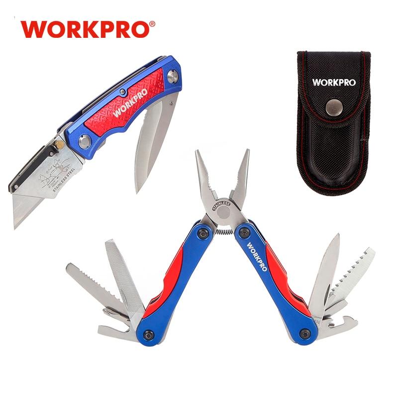 Nóż + Multitool WorkPro za $16.99 / ~65zł