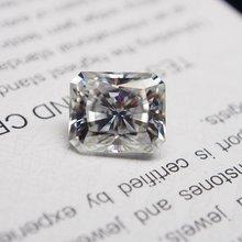 Сияющий бриллиант vvs moissanite сверхбелый 10*12 мм 645 карат