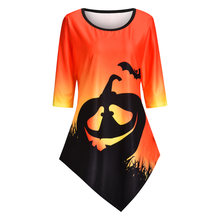 Женские футболки для Хэллоуина тыква фонарь футболка с принтом