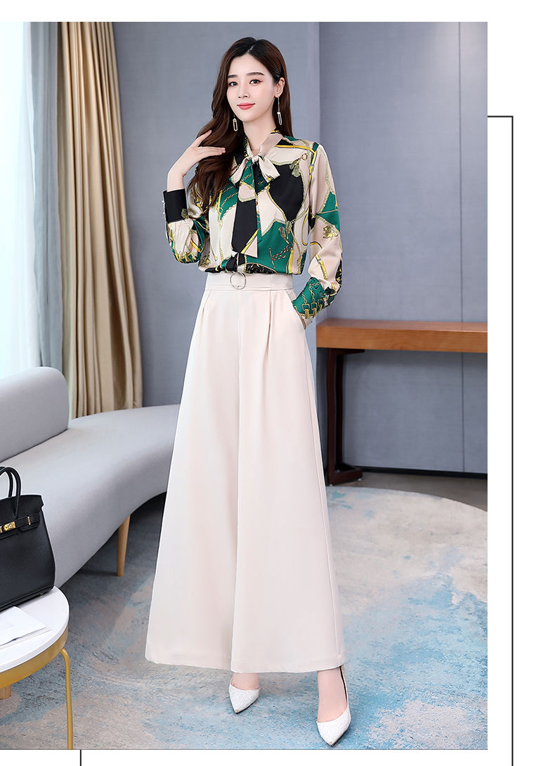 Ha163276909264ae6a8dc6d058409f925J - Summer Two Piece Set OL Women Sets Plus Size Two Piece Set Top And Pants Wide Leg Pants Woman Tracksuit /outfit/suit/Set 2 Piece