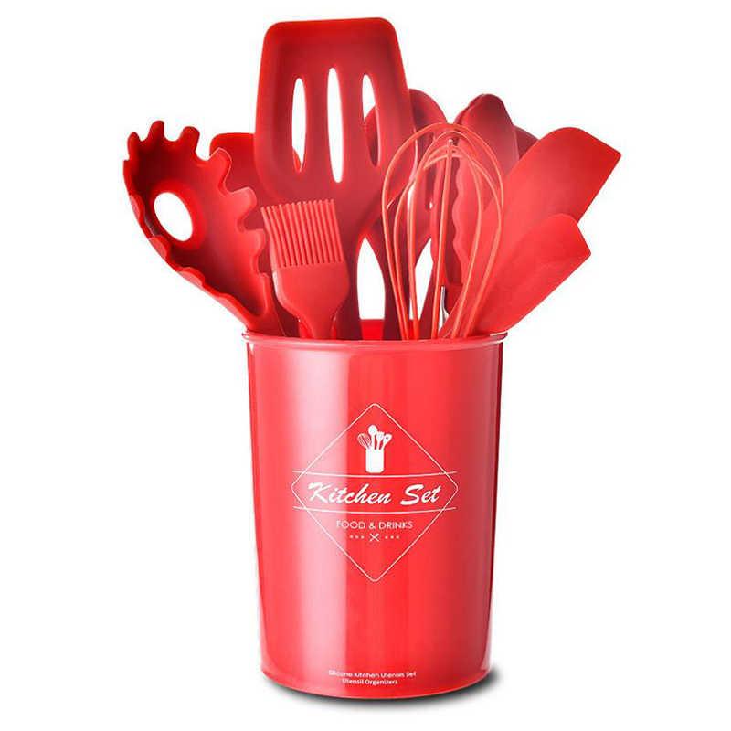 Набор посуды кухонная посуда для хранения столовой посуды силиконовая клетка 11 шт. набор кухонной посуды для хранения столовой посуды ведро антипригарная ложка-лопатка