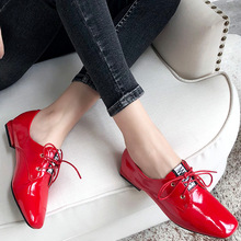 Casual Shoes Oxford Flat Women Office Shining Soft Chic Fashion Pigskin Insole Commuter