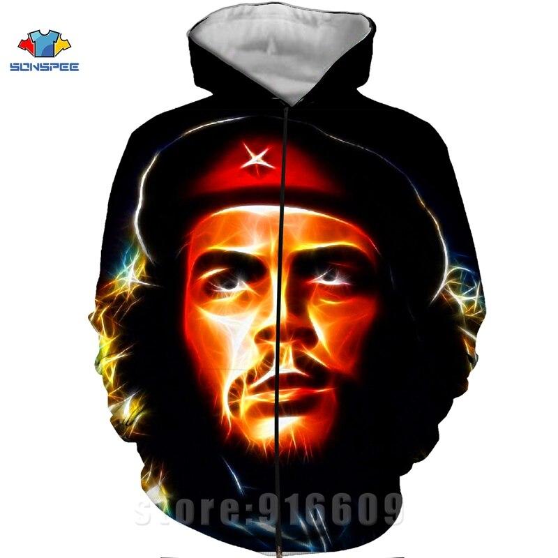 Winter Coat 3D Print Che Guevara Jacket Men Sweatshirts Women Fashion Hoodies Mens Pocket Sweatshirt Harajuku Hoodie Pullovers (15)