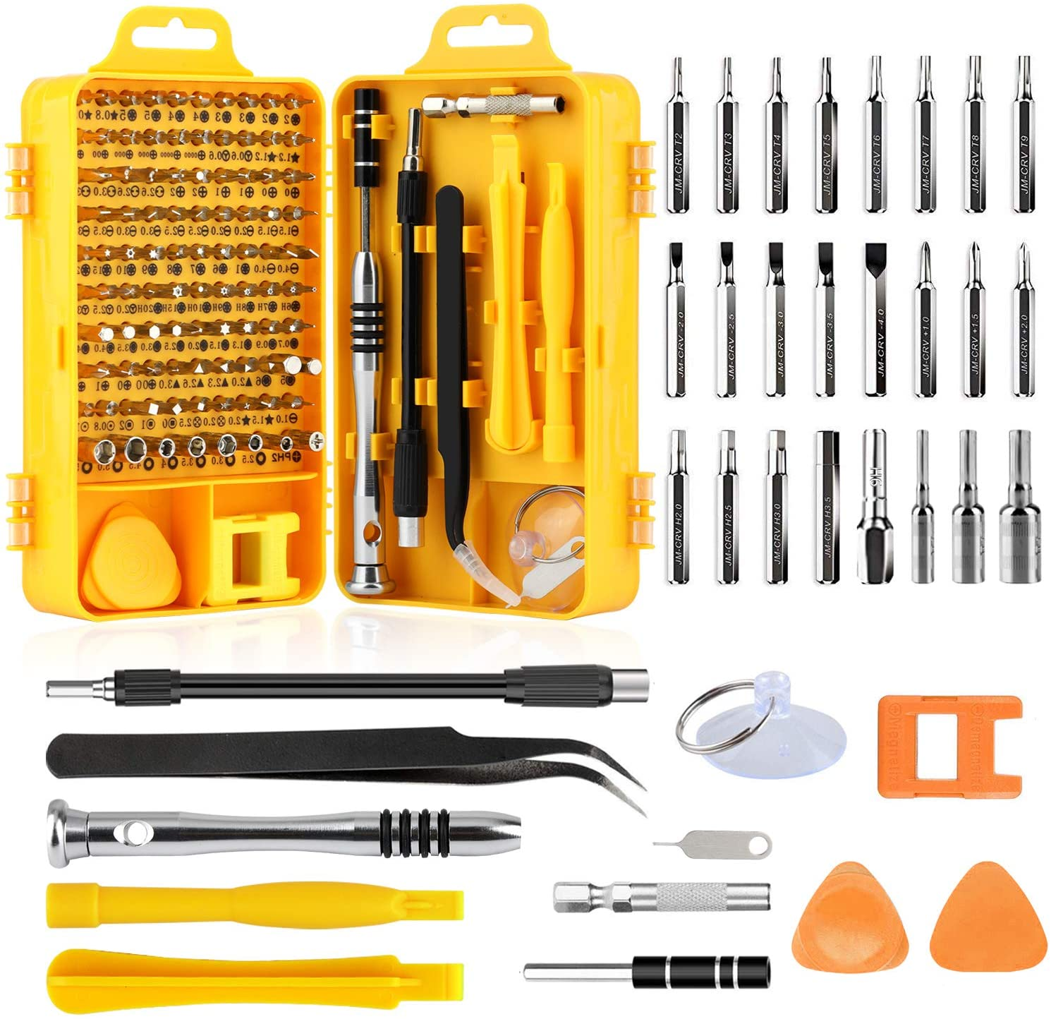 109 in 1 Screwdriver Set Non-Slip Magnetic Precision Electronics Tool Kit for Repair iPhone, Android, Computer, Laptop