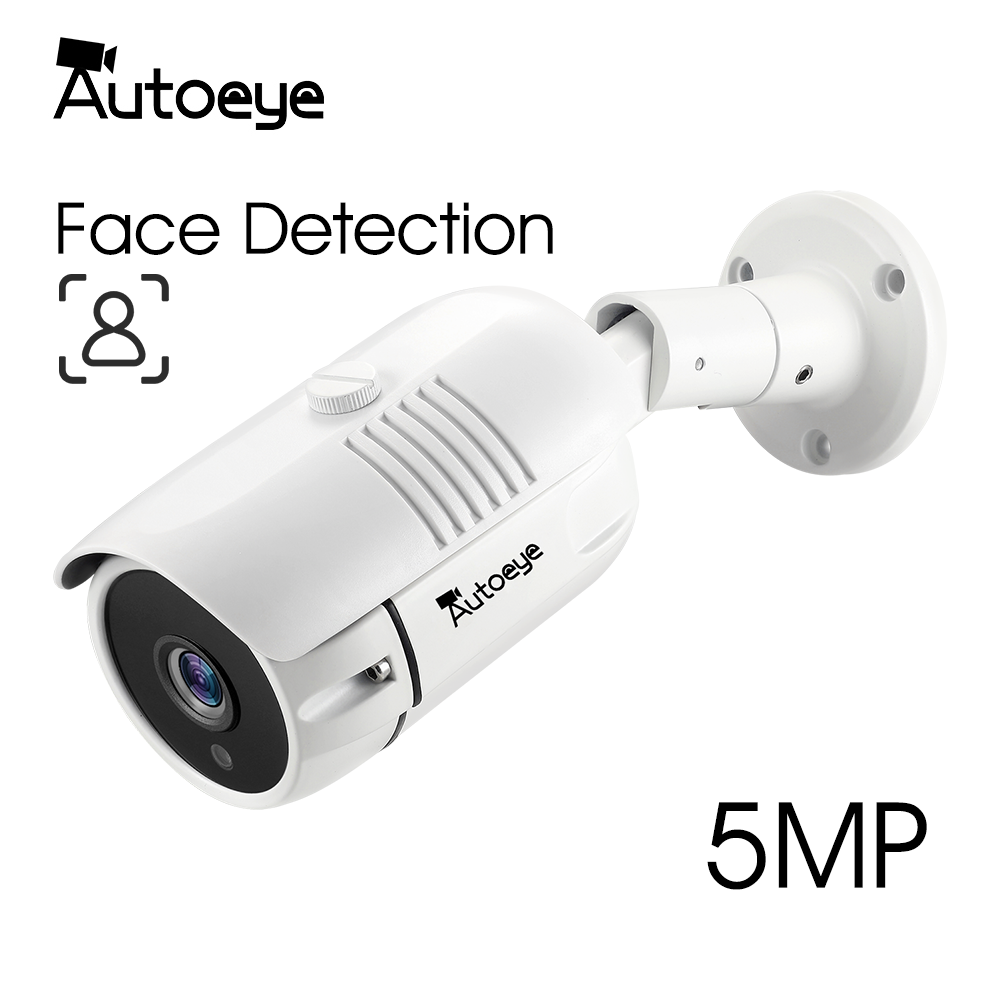 Autoeye 5.0MP 1080P SONY AHD Face Detection Camera H.265X Metal Bullet IP66 Waterproof CCTV Security Video Surveillance Outdoor