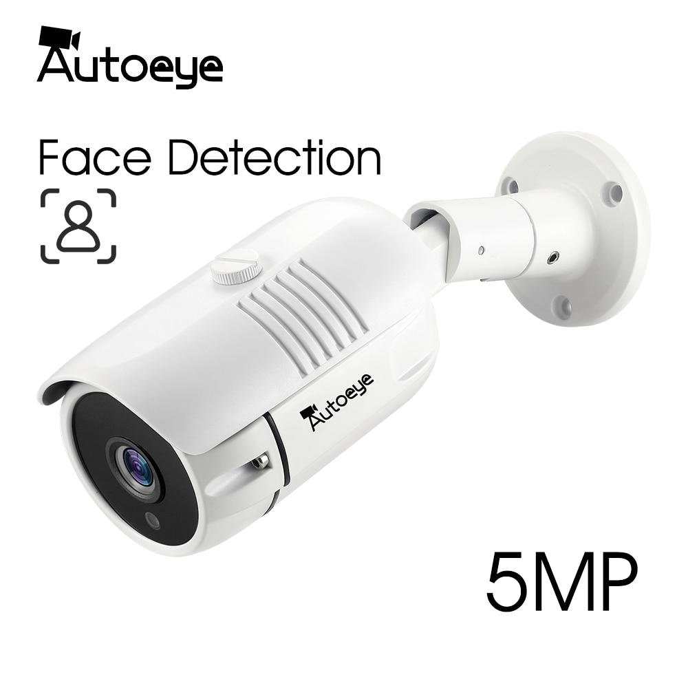 Autoeye 5.0MP 1080P SONY AHD Face Detection Camera H.265X Metal Bullet IP66 Waterproof CCTV Security Video Surveillance Outdoor