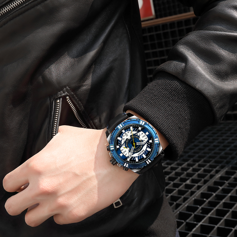 MEGIR Luxury Mens Watches 2118
