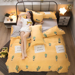 Autumn New Style Four-piece Bed Sheet Set 2019 Cool Four-piece Bedding Set a Bed with Cartoon Figures Single Suite