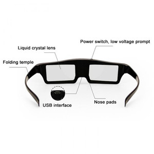 Image 3 - 2pcs HOT SALE!HIGH QUALIT Bluetooth 3D Shutter Active Glasses for Samsung for Panasonic for Sony 3DTVs Universal TV 3D Glasses