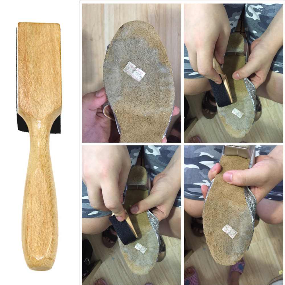 Wire Brush Ballet Dance Shoe Brush PU Protector Cover Wood Handle Ballroom Suede Soles Latin Salsa Dance Shoes Maintenance