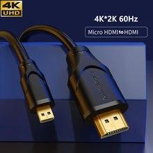 Микро hdmi 4k Кабель 90 градусов mini кабель удлинитель для