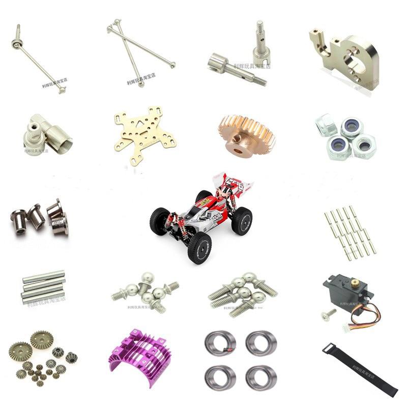 Receptor de peças de carro rc wltoys 144001, amortecedor em formato de cardan e eixo c