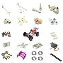 Wltoys 144001 rc peças de carro receptor carregador servos engrenagem pneu amortecedor escudo do carro cardan eixo c assento osso do cão