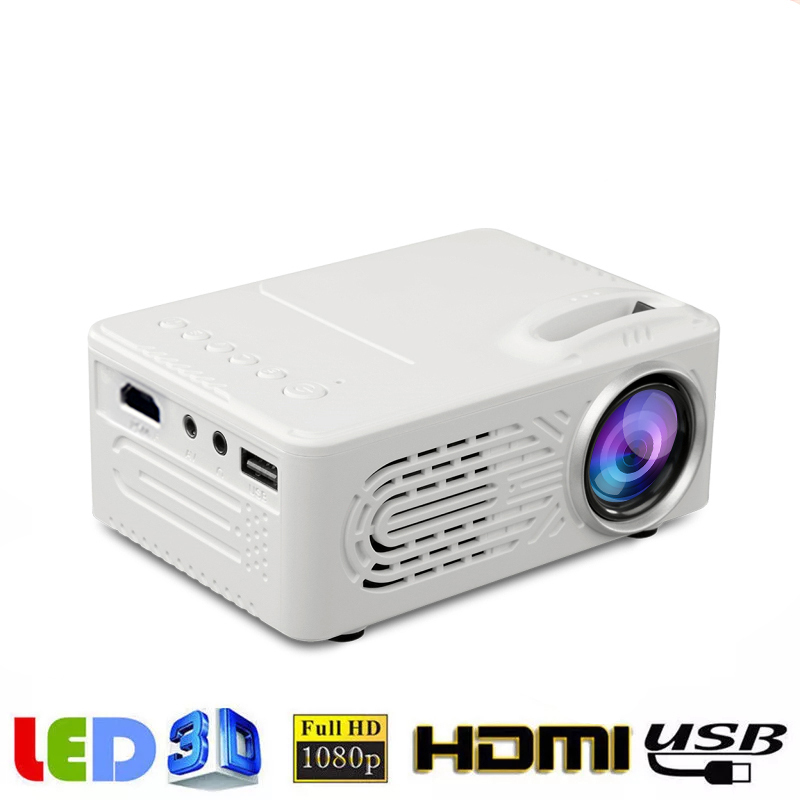 814 Micro LED Portable Projector with Built-in Speaker with USB Home Media Projector Supporting 1080P Player