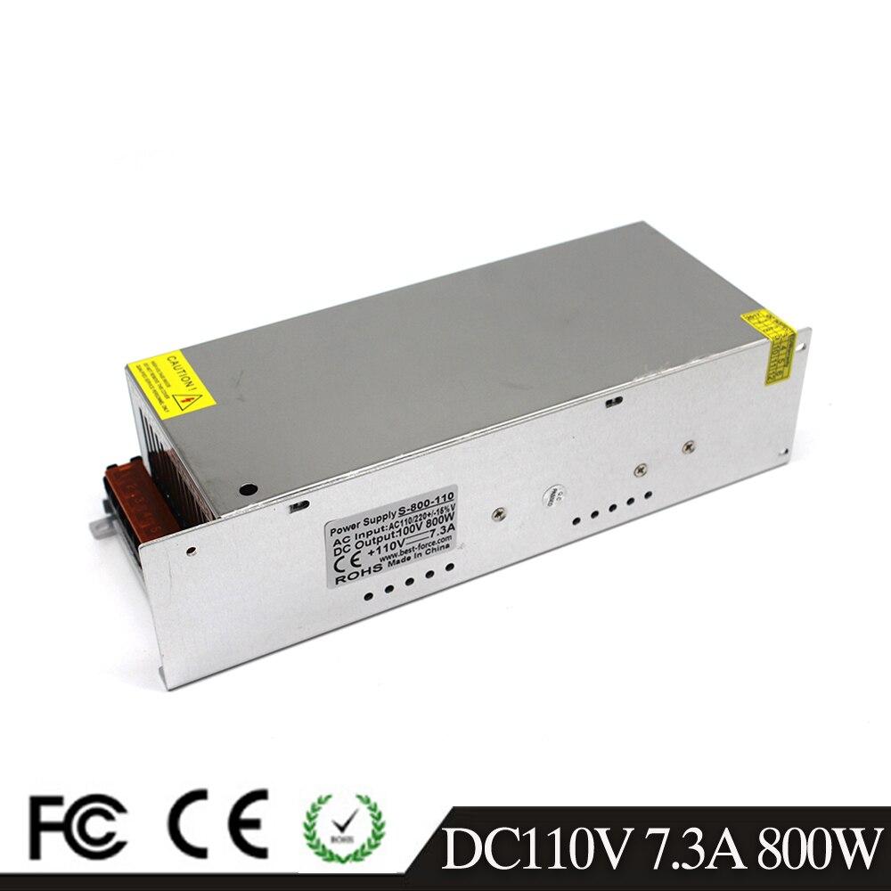 Одиночный выход 800W 7.3A 110V DC Switchi трансформатор питания драйвера 220V AC к DC110V SMPS для CNC машина