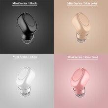 ERILLES Wireless In Ear Handfree Bluetooth Earphone Mini Sports Headset Noise Ca