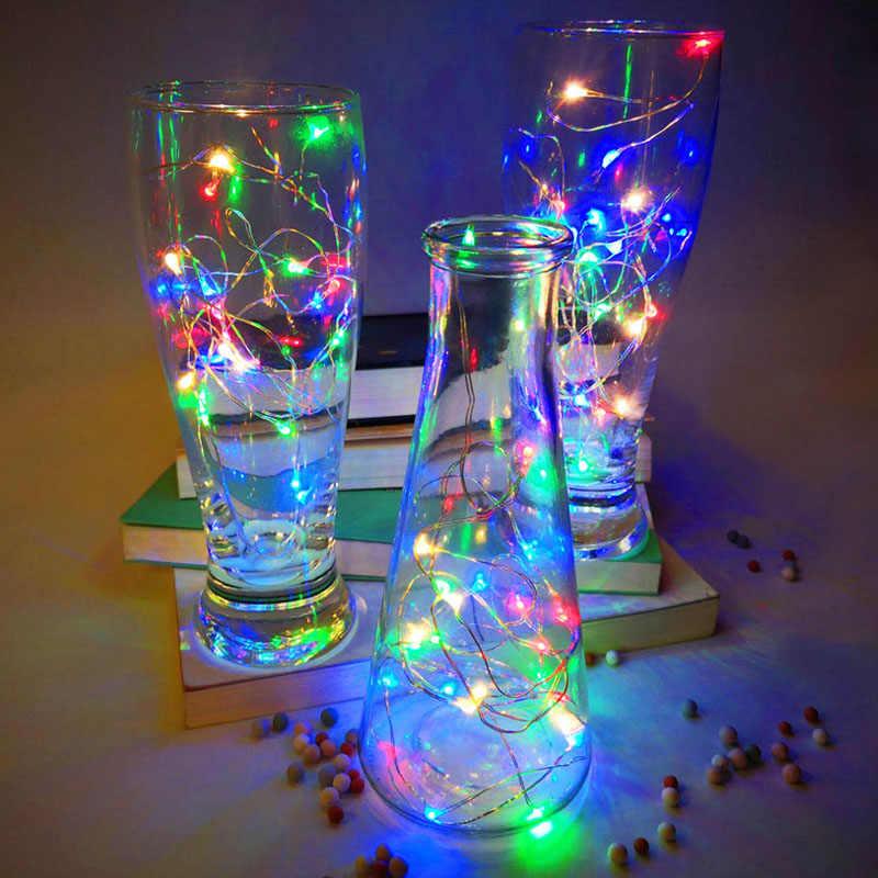 LED سلسلة أضواء جارلاند 2 متر 3 متر 5 متر 10 متر 12 متر أبيض/دافئ أبيض/متعدد الألوان عطلة Patry الزفاف الديكور المنزل أضواء Fairry
