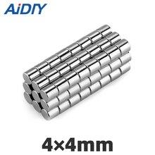 AI DIY 20/100Pcs 4x4mm N35 Neodymium Magnet Super Powerful Strong Disc Mini Small Rare Earth Magnets Wholesale Fridge 4*4mm