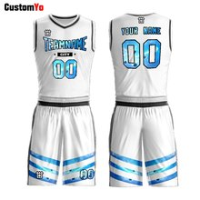 Custom Made Team Practice Blank Youth Singlets Men's Reversible Jersey Set Basketball Uniforms(China)