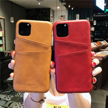 New high-end creative dual-card purse animal leather phone case for iPhone 6 6S 7 8 PLUS X XR XS MAX 11 pro max