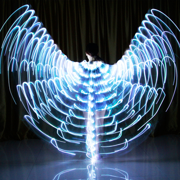 Led Wing Dance Isis Wing Glow Light Belly Dance Butterfly 360 Angel Sticks Accessories Carnival Halloween Children Adult обувь для тибетских танцев butterfly dance 1204
