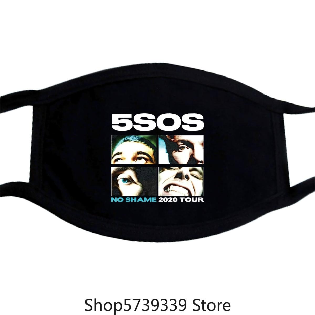 5 Seconds Of Summer Mask No Shame 2020 Tour Mask Washable Reusable Mask