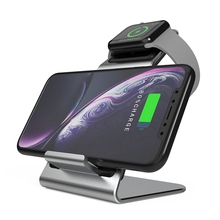 W5 2 في 1 تشى شاحن لاسلكي سريع لابل أندرويد ساعة الهاتف مع كابل بيانات نوع C لسامسونج هواوي آيفون Iwatch J2