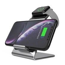 W5 2 en 1 Qi inalámbrico rápido cargador para Apple Android reloj teléfono con tipo C Cable de datos para Samsung Huawei Iphone Iwatch J2