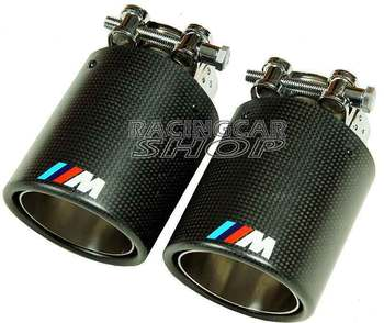 //M sport Style Real Carbon Fiber Quad Exhaust Muffler Tips Pip 1pair FOR BMW M3 M4 M5 M6 M1 1 3 5 7 SERIES B347W 1