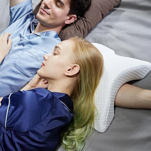 Image 2 - Almohada de espuma de rebote lento curvo para parejas, almohada de memoria antipresión para la mano, entumecida y protección del cuello y los brazos muertos, siesta en la oficina