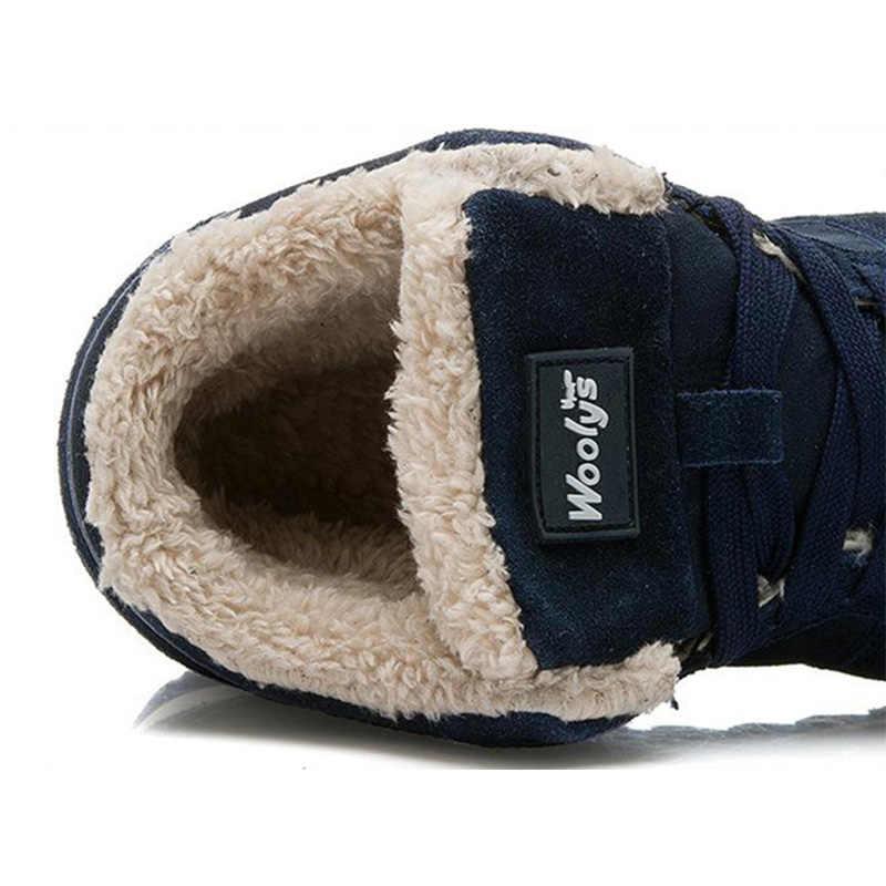 Mannen Laarzen mannen Winter Schoenen Mode Snowboots Schoenen Plus Size Winter Sneakers Enkel Mannen Schoenen Winter Laarzen Zwart blauw Schoeisel