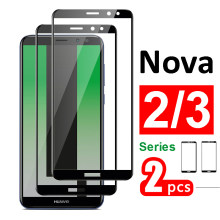 2pcs Glass on for huawei nova 3 3i 2 2i tempered screen protector nova3 nova2 i protective armored nova3i nova2i hauwei huavei(China)