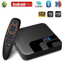 Caixa de TV Android 10 2.4G & 5.8G Wifi H616 3D 4GB GB 64 32GB Bluetooth Media Player de Vídeo 6K Caixa smart TV Android