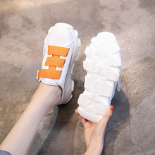 2019 new summer casual womens shoes fashion wear Joker Baotou half slippers thick bottom increased Yasialiya