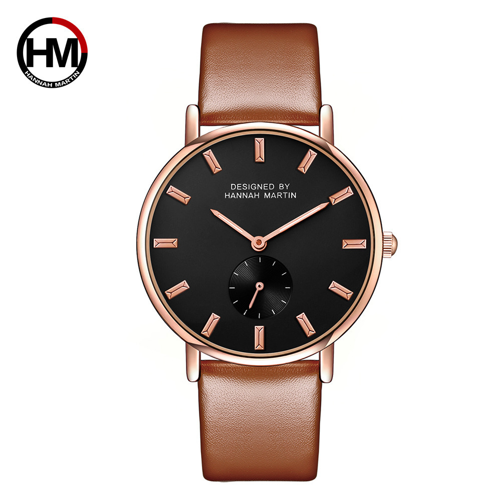 Hannah Martin Hot Sales-Ladies' Watch Small Dial Decoration Waterproof Quartz Watch Business Casual Leather Strap Watch