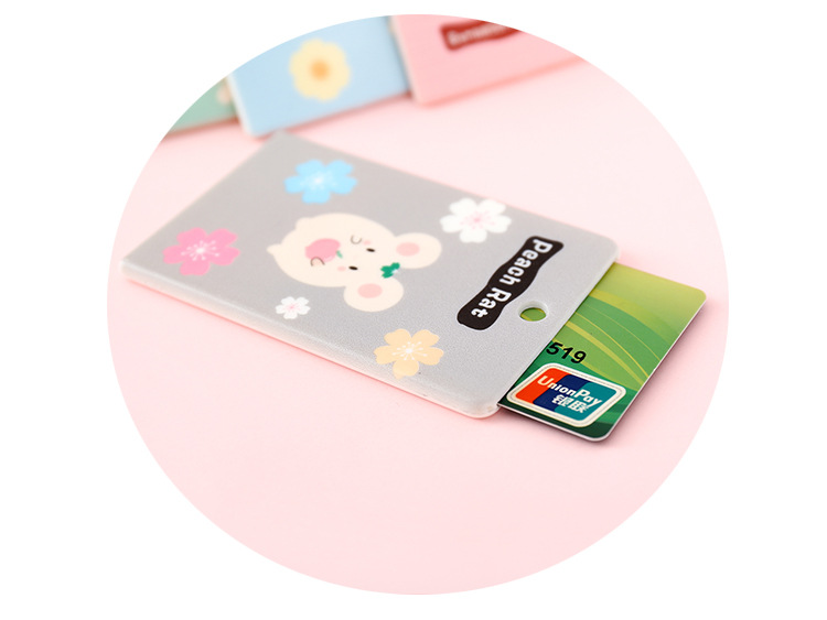 Lovely Cartoon Animal Credit Card Holder Keyring Key Chain Bus Card Case DM
